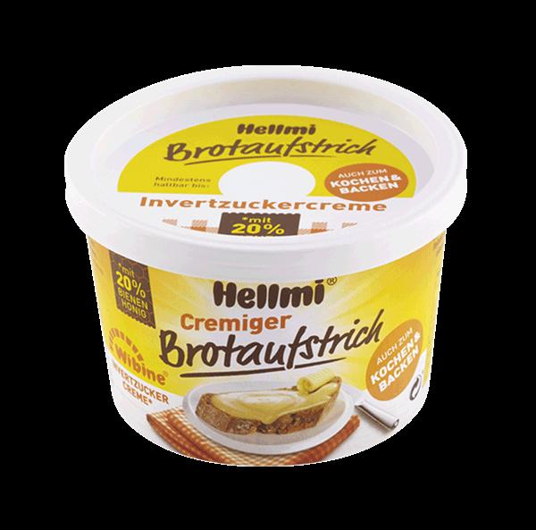 Hellmi Cremiger Brotaufstrich - Wibine - 20% Bienenhonig 250g